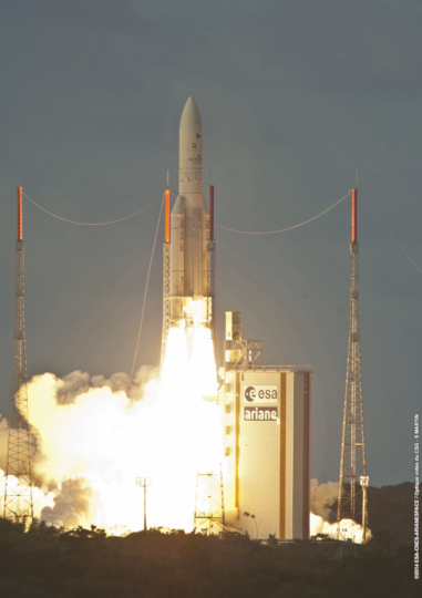 Start der Ariane VA221